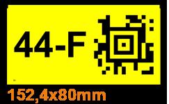 ONE2ID Lageretikett mit Aztec Data-Matrix Code