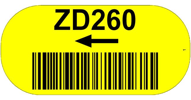ONE2ID Lageretiketten Bodenkennzeichnung