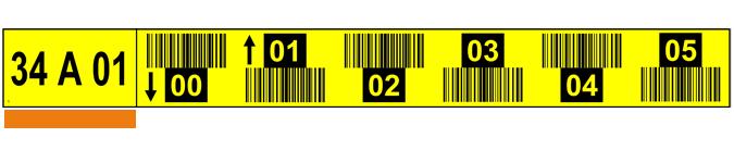 ONE2ID Lagerplatz-Etiketten 6 Ebenen mit Barcode