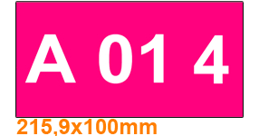 ONE2ID Lagerplatz-Etiketten Höhenfarben magenta