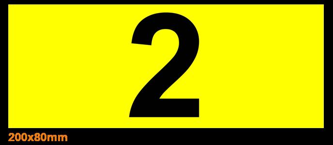 ONE2ID Lagerplatz-Etiketten Palettenregale gelb