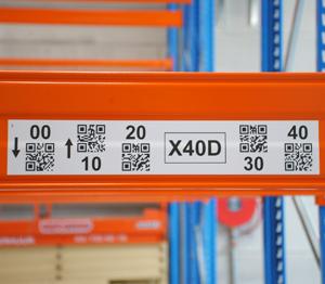 ONE2ID Lagerplatz Etiketten weiß mit QR-Code