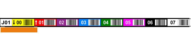 ONE2ID Lagerregaletikett Barcode-Etiketten mit Farbcodierung