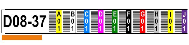 ONE2ID Lagerregaletiketten 10 Ebenen Vertikaler Barcode