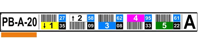ONE2ID Lagerregaletiketten Prüfziffern und Farben