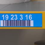 ONE2ID Lagerregaletiketten blau mit Pfeilen