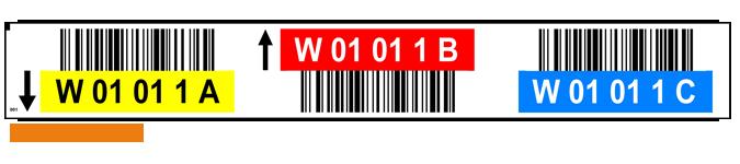 ONE2ID Lagerplatzetiketten mit Farben and Strichcode