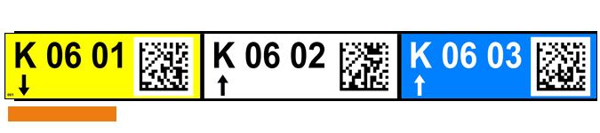 ONE2IKD Lagerregaletiketten mit QR-Code