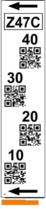 ONE2ID Lagerregaletiketten mit QR-Code für Regalständer