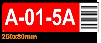 ONE2ID Lagerregaletiketten rot mit Barcode
