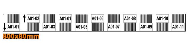 ONE2ID Lagerregaletiketten weiß mit Barcode