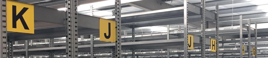 ONE2ID Lagerschilder gelb Lagerkennzeichnung