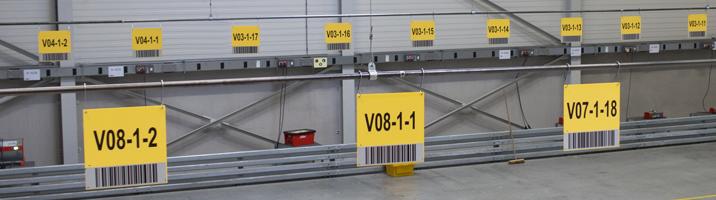 ONE2ID Lagerschilder mit Barcode Fern-Scannen