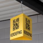 ONE2ID Lagerschilder mit QR-Code long range Scannen