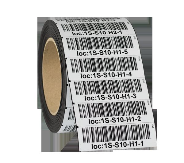 ONE2ID Magnetetiketten mit Strichcode