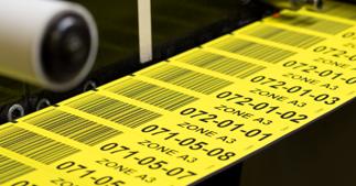 ONE2ID Magnetische Regaletiketten Lagerplatzetiketten