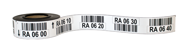 ONE2ID Magnetische Regaletiketten mit Barcode
