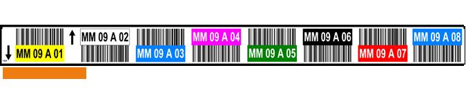 ONE2ID Multilevel Regaletikett mit Farben 8 Ebenen