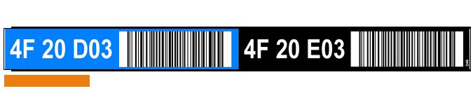 ONE2ID Multilevel Regaletiketten mit Farben und Barcode