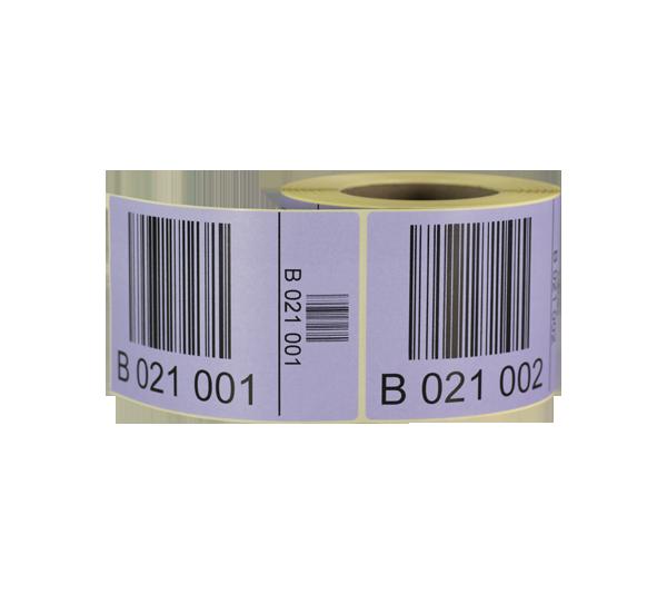 ONE2ID Palettenetiketten LPN Etiketten mit aufsteigenden, individuellen Seriennummern