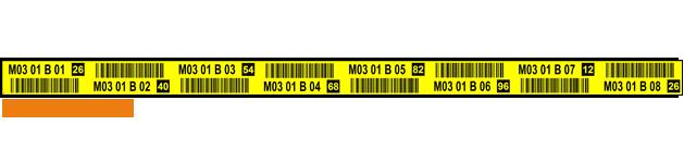 ONE2ID Palettenregale Regaletiketten mit Prüfzahlen