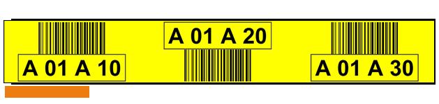 ONE2ID Regaletikett gelb