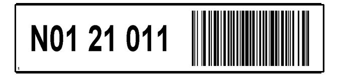 ONE2ID Regaletikett mit Barcode