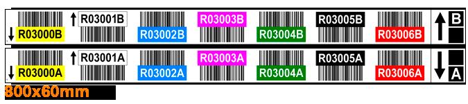 ONE2ID Regaletikett mit doppeltem Barcode