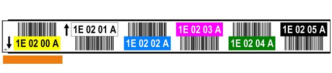 ONE2ID Regaletikett sechs Ebenen mit Barcode