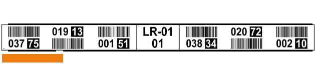 ONE2ID Regaletikett weiß mit Prüfziffern Kommissionierung