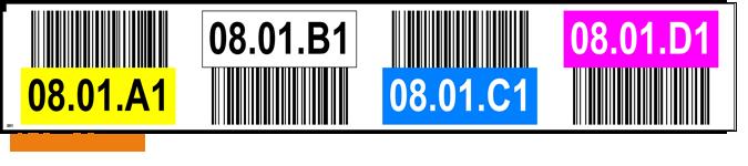ONE2ID Regaletiketten 4 Ebenen mit Farben