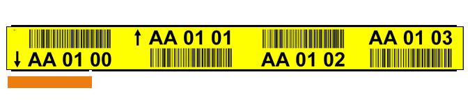 ONE2ID Regaletiketten 4 Ebenen mit Strichcode