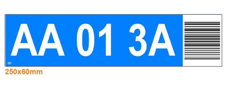ONE2ID Regaletiketten Höhenfarben mit Barcode