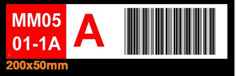ONE2ID Regaletiketten Palettenetiketten mit Barcode und Farben