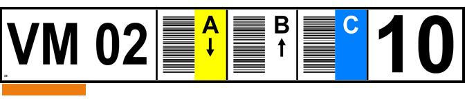 ONE2ID Regaletiketten Vertikaler Barcode