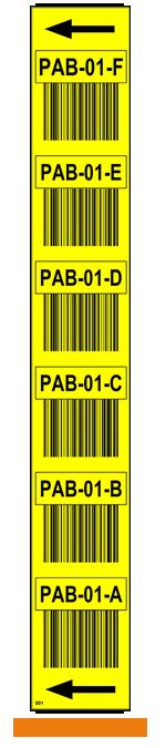 ONE2ID Regaletiketten für Lagerregalständer gelb