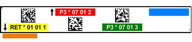ONE2ID Regaletiketten mit Data-Matrix Code und Farben