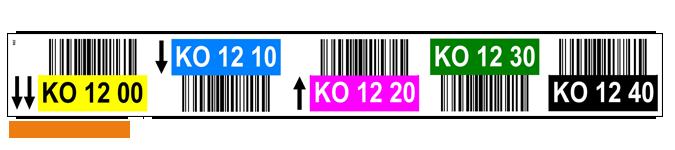 ONE2ID Regaletiketten mit Pfeile und Farben