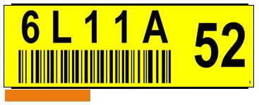 ONE2ID Regaletiketten mit Prüfzahlen und Barcode