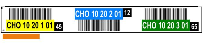 ONE2ID Regaletiketten mit Prüfziffern und Höhenfarben