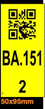 ONE2ID Regaletiketten mit QR-Code Einfahrregale