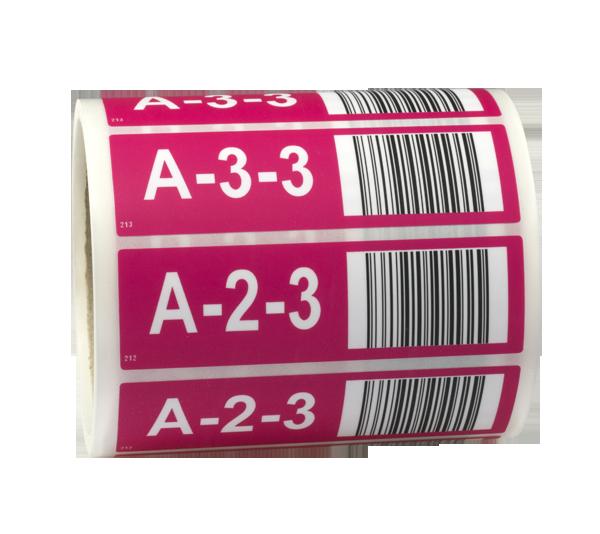ONE2ID Regaletiketten mit Strichcode