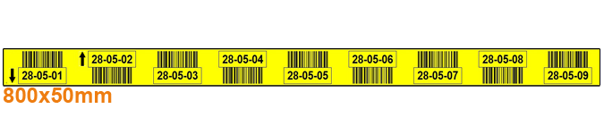 ONE2ID Regaletiketten neun Ebenen mit Barcode