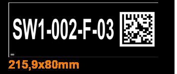 ONE2ID Regaletiketten schwarz mit 2D-DataMatrix-Code