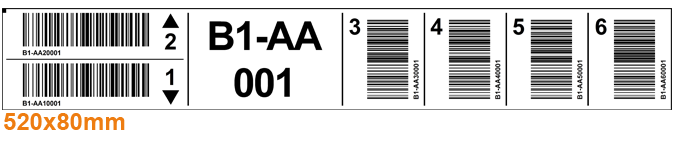 ONE2ID Regaletiketten weiß mit Barcode