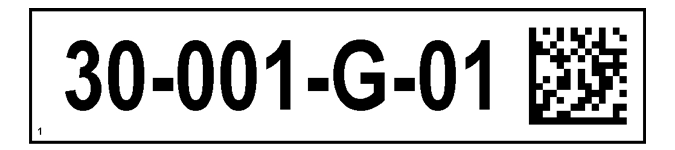 ONE2ID Regalschilder mit 2D DataMatrix Code