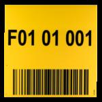 ONE2ID Schild mit Barcode