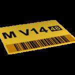 ONE2ID Schild mit Prüfziffern und Barcode