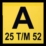 ONE2ID Schilder für Blocklager Flachschild Lagerkennzeichnung