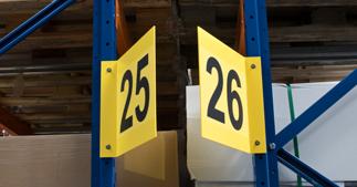 ONE2ID Schilder für Gänge, Regale und Halle